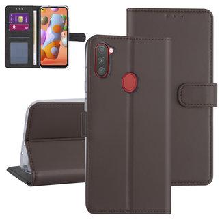 Andere merken Samsung Galaxy A11 Bruin Booktype hoesje - Kaarthouder