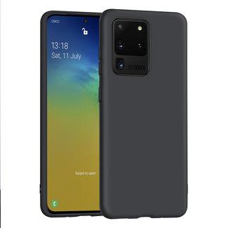 xlmobiel.nl Samsung Galaxy S20 Ultra zwart Backcover hoesje - silicone