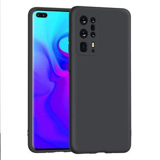 xlmobiel.nl Huawei P40 Pro plus zwart Backcover hoesje - silicone