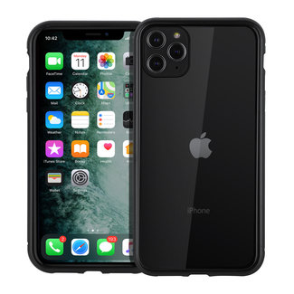 xlmobiel.nl Apple iPhone 11 Pro Max zwart Backcover hoesje - Glas en metaal