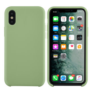 xlmobiel.nl Apple iPhone X-Xs Licht groen Backcover hoesje - silicone