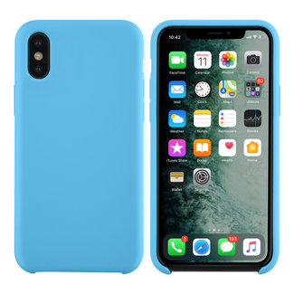 xlmobiel.nl Apple iPhone X-Xs Lichtblauw Backcover hoesje - silicone