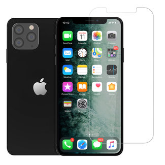 Andere merken Apple iPhone 12-12 Pro Transparant Screenprotector - Gehard glas
