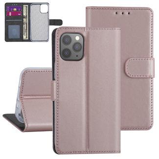 Andere merken Apple iPhone 12-12 Pro Roze Booktype hoesje - TPU