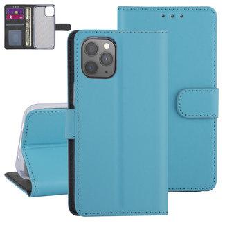 Andere merken Apple iPhone 12-12 Pro Lichtblauw Booktype hoesje - TPU