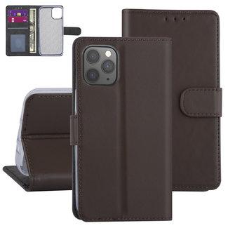 Andere merken Apple iPhone 12-12 Pro Bruin Booktype hoesje - TPU