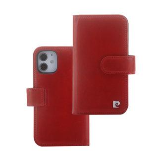 Pierre Cardin Pierre Cardin Apple iPhone 12 / 12 Pro rood Booktype hoesje - Echt leder