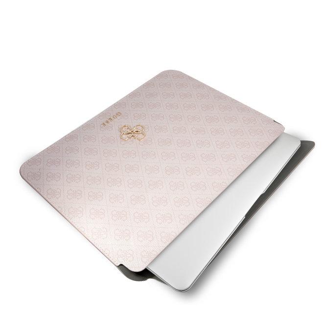 Guess 13 Inch Laptop- en Tablet-Sleeve - Roze - PU Leer - Big 4G Logo