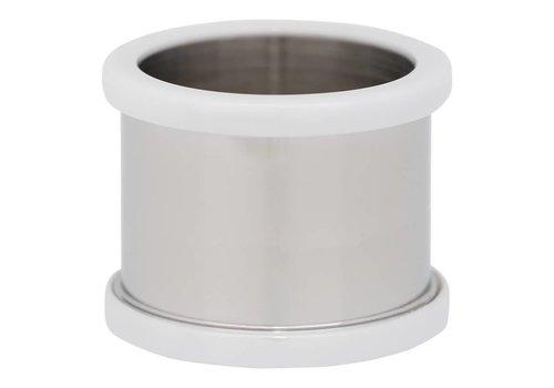 IXXXI Basisring 14 mm Keramik silber