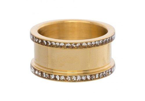 IXXXI Basisring 10 mm Zirkon gold