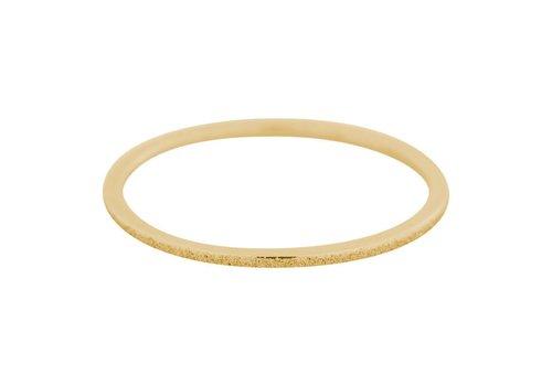 iXXXi Füllring 1 mm Sandgestrahlt gold
