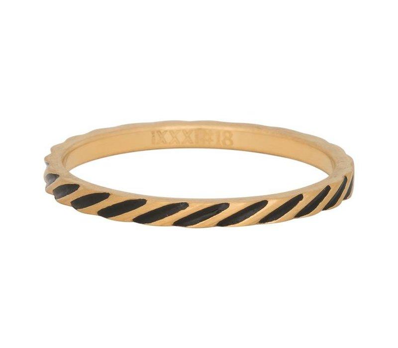 iXXXi Füllring 2 mm Slanting Stripes gold
