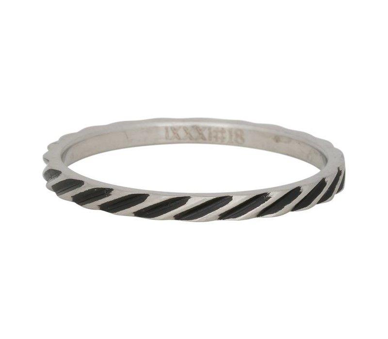 iXXXi Füllring 2 mm Slanting Stripes silber