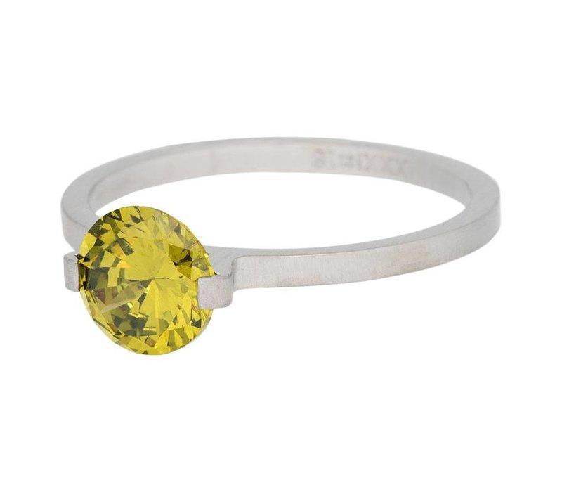iXXXi Füllring 2 mm Glamour Stone olive