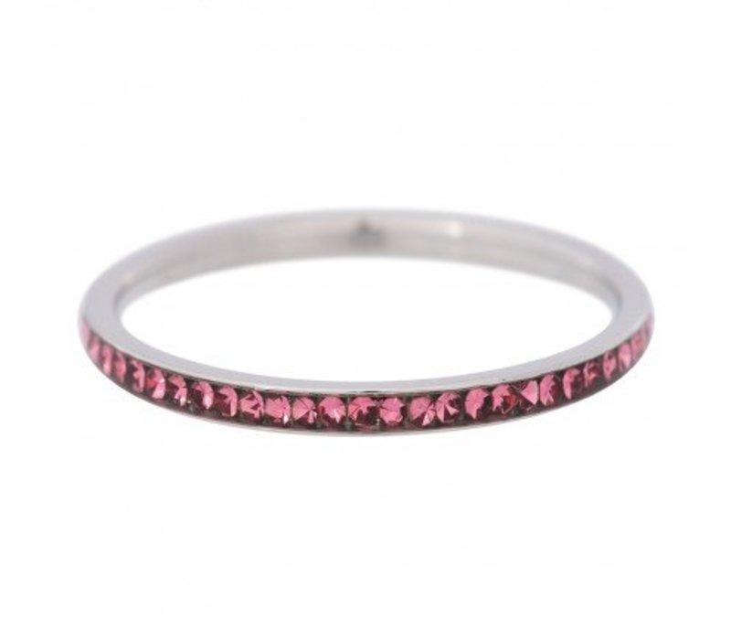 iXXXi Füllring 2 mm Zirkonia Pink silber