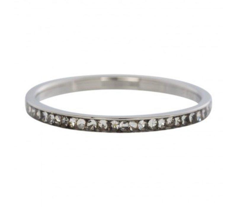 iXXXi Füllring 2 mm Zirconia Crystal silber