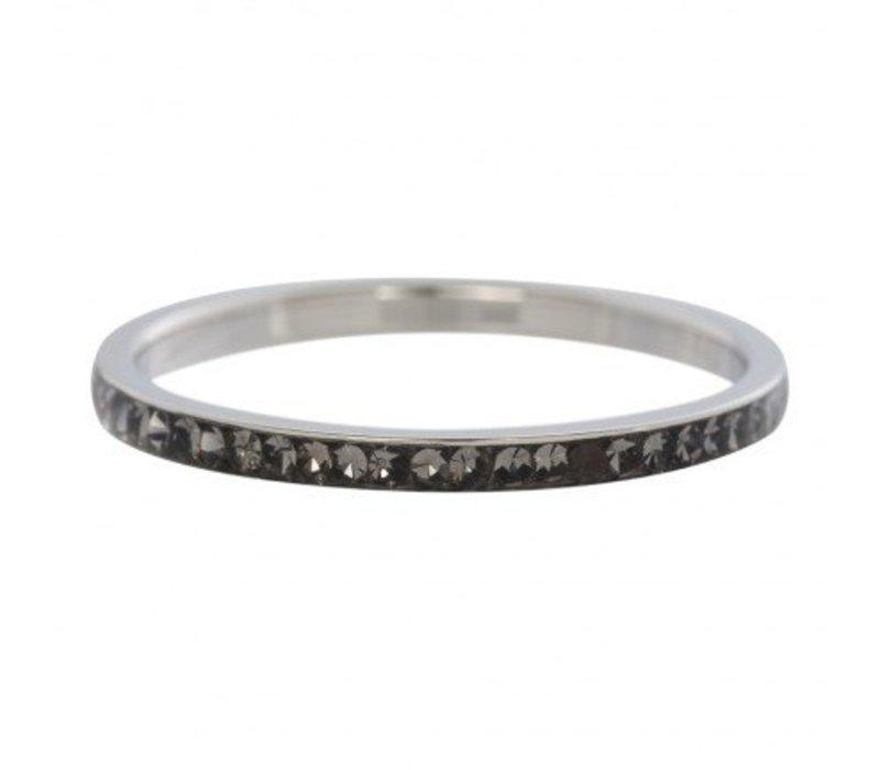 iXXXi Füllring 2 mm Zirkonia Blackstone silber