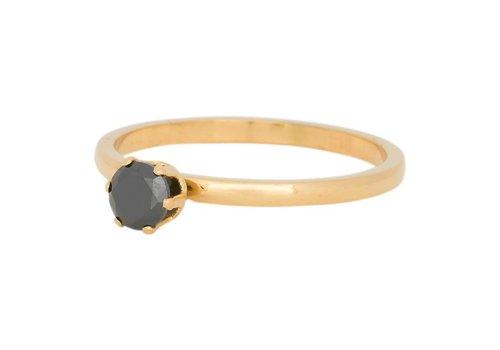 iXXXi Füllring 2 mm Crown Black Diamond Stone gold