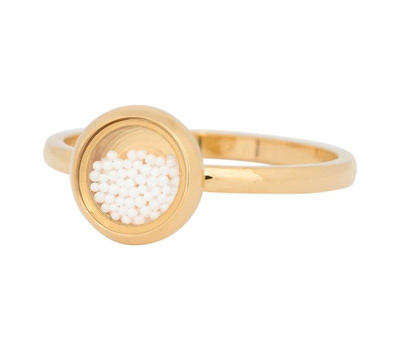 iXXXi Füllring 2 mm White Balls gold