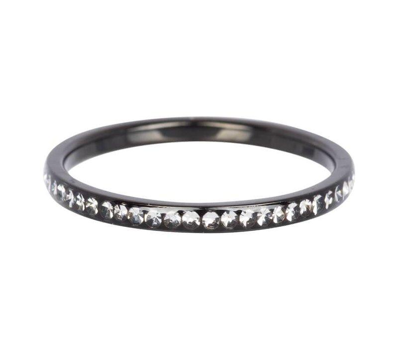 iXXXi Füllring 2 mm Zirkonia Kristall schwarz