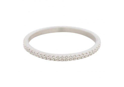 iXXXi Füllring 2 mm Caviar silber