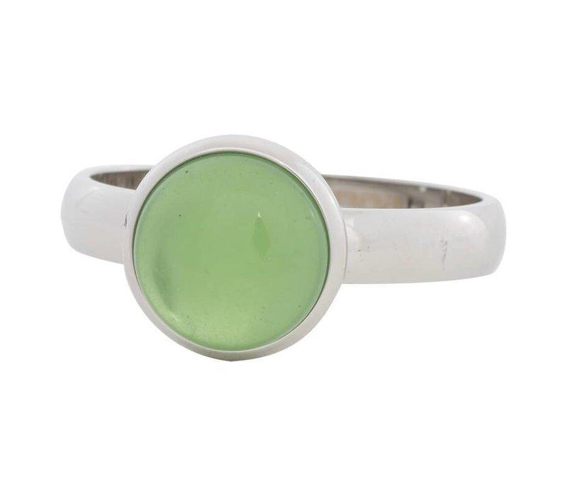 iXXXi Füllring 4 mm grüner Stein 12 mm silber