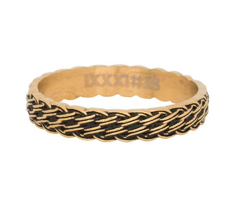 iXXXi Füllring 4 mm Lucky knot gold