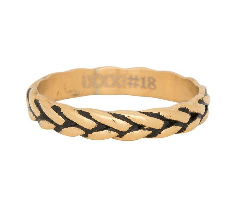 iXXXi Füllring 4 mm Wheat knot gold