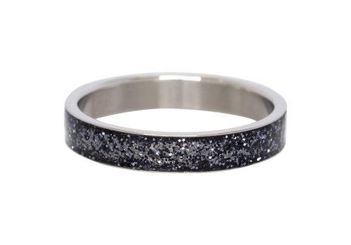 iXXXi Füllring 4 mm Glitter schwarz