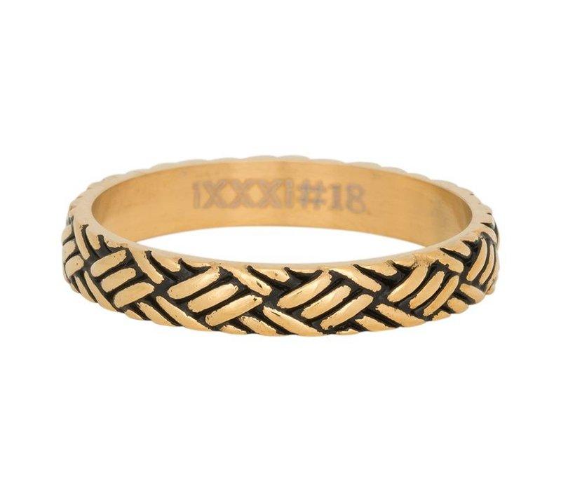 iXXXi Füllring 4 mm Love knot gold