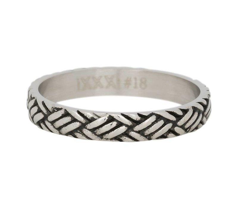 iXXXi Füllring 4 mm Love knot silber