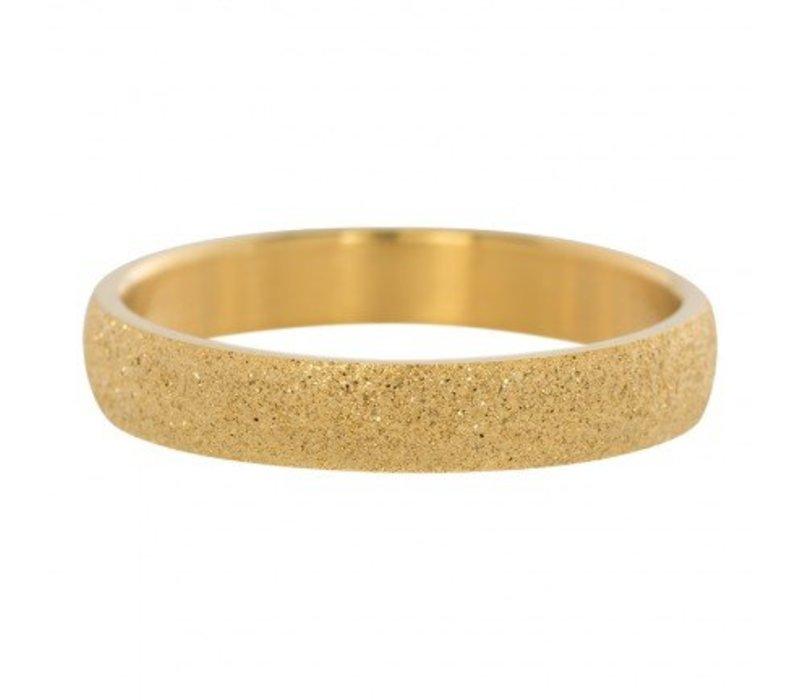 iXXXi Füllring 4 mm Sandgestrahlt gold