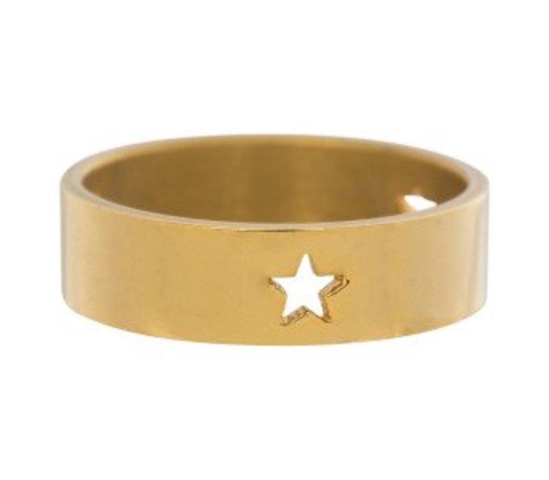 iXXXi Füllring 6 mm drei ausgestanzte Sterne gold