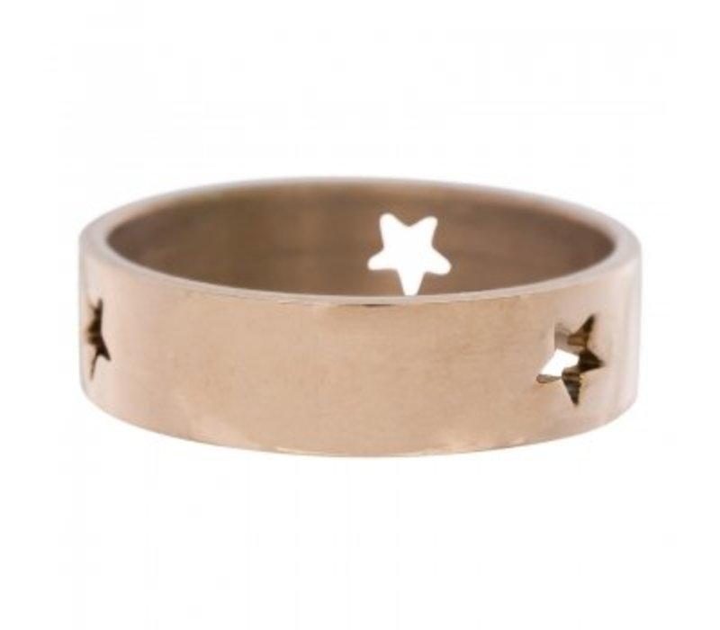 iXXXi Füllring 6 mm drei ausgestanzte Sterne rosegold