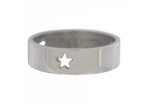 iXXXi Füllring 6 mm drei ausgestanzte Sterne silber