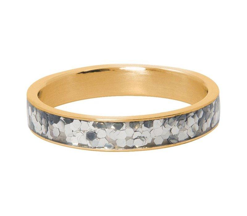 iXXXi Füllring 4 mm Glitter confetti gold