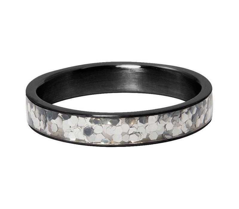 iXXXi Füllring 4 mm Glitter confetti schwarz