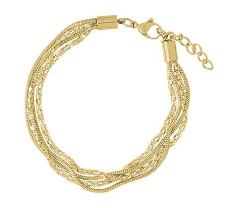 iXXXi Armband Snake and 2 Popcorn gold
