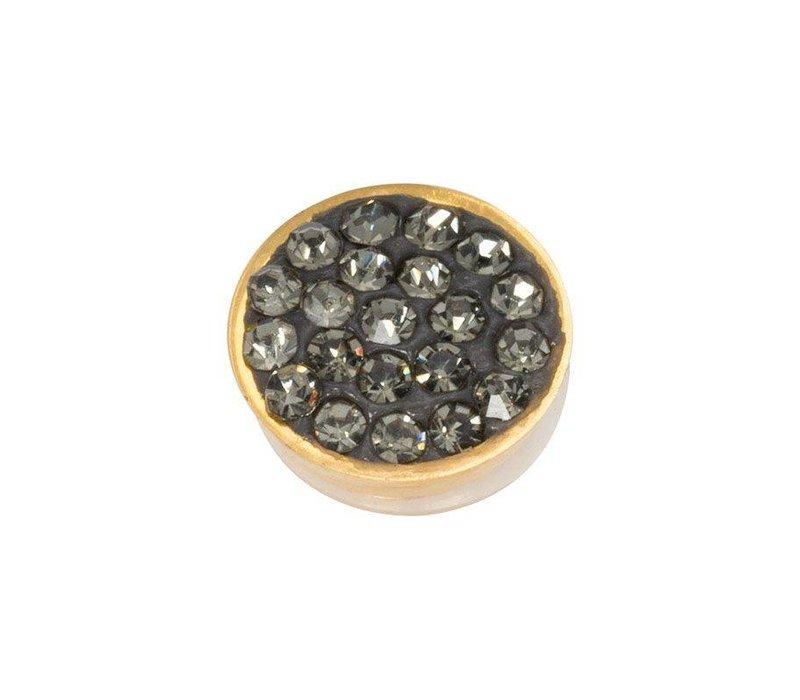 iXXXi Top Part Black Diamond Stones gold