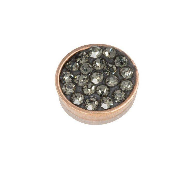 iXXXi Top Part Black Diamond Stones rosegold