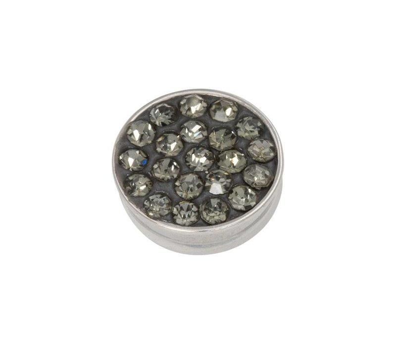 iXXXi Top Part Black Diamond Stones silber