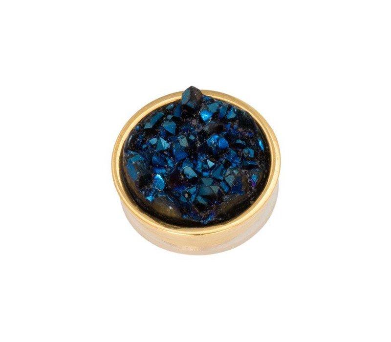 iXXXi Top Part Drusy Dark Blue gold