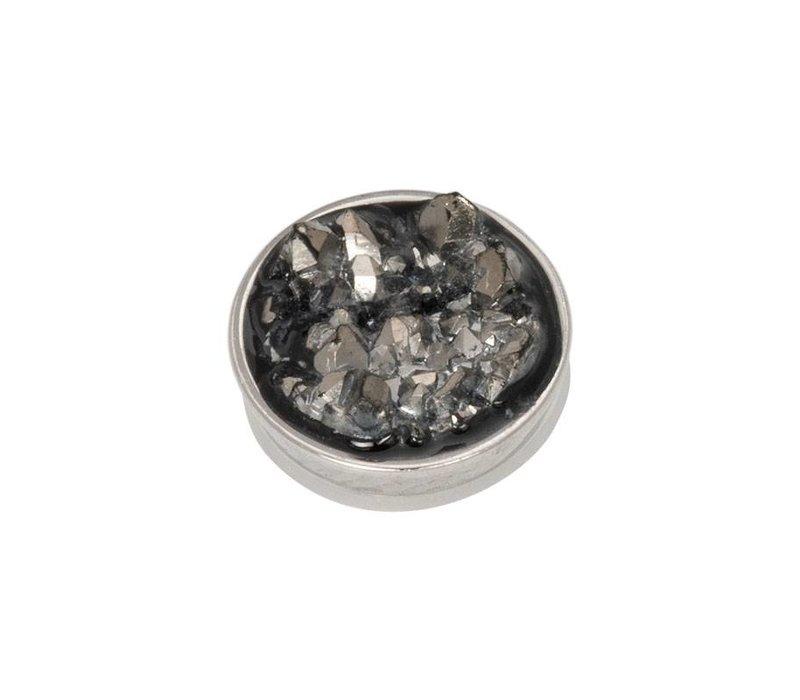 iXXXi Top Part Drusy Dark Gray silber
