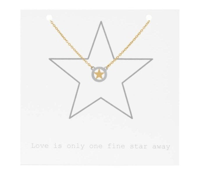 iXXXi Halskette Star on Giftcard gold