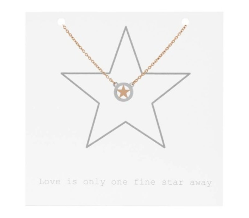iXXXi Halskette Star on Giftcard rosegold