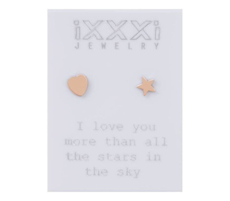 iXXXi Ohrstecker 'I love you more than' rosegold