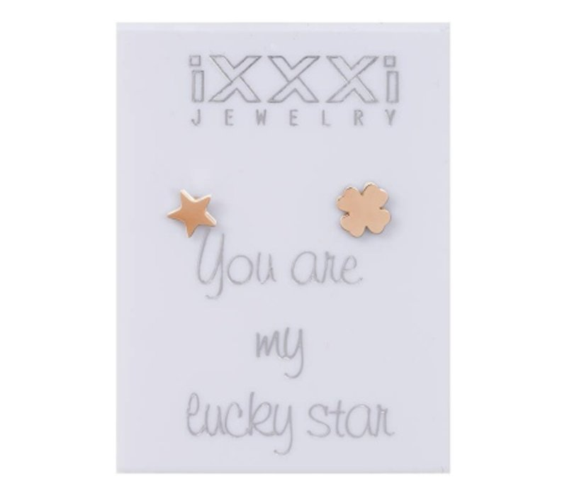 iXXXi Ohrstecker You are my lucky star rosegold