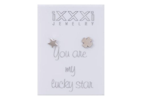 iXXXi Ohrstecker You are my lucky star silber