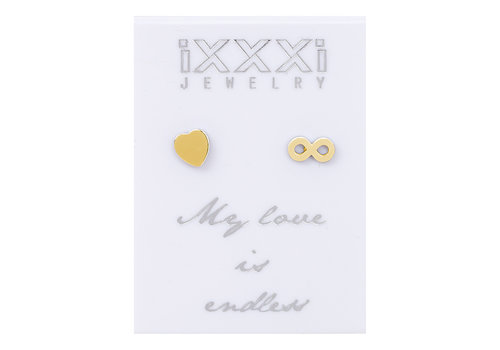 iXXXi Ohrstecker My love is endless gold