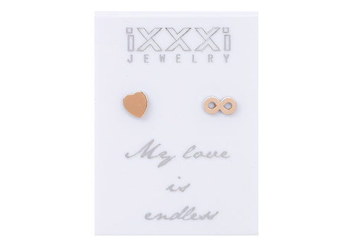 iXXXi Ohrstecker My love is endless rosegold